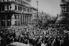 Manitoba Archives. L.B. Foote Collection. Crowds in the street.